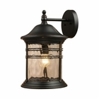 ELK Madison 1-Light Outdoor Sconce in Matte Black EK-08163-MBG
