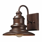 ELK Marina 1 Light Outdoor Sconce in Hazelnut Bronze EK-47010-1
