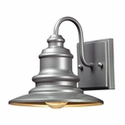 ELK Marina 1 Light Outdoor Sconce in Matte Silver   EK-47020-1