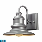 ELK Marina 1 Light Outdoor Sconce in Matte Silver   - Led EK-47020-1-LED