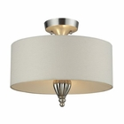 ELK Martique 3 Light Semi Flush in Chrome and Silver Leaf EK-46031-3