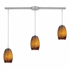 ELK Maui 3 Light Pendant in Satin Nickel EK-10220-3L-SUN