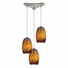 ELK Maui 3 Light Pendant in Satin Nickel EK-10220-3SUN