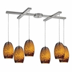 ELK Maui 6 Light Pendant in Satin Nickel EK-10220-6SUN