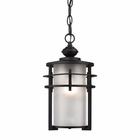 ELK Meadowview 1 Light Outdoor Pendant in Matte Black EK-46253-1