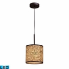 ELK Medina 1-Light Pendant in Aged Bronze - Led EK-31045-1-LED