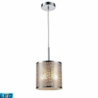 ELK Medina 1-Light Pendant in Polished Stainless Steel - Led EK-31041-1-LED