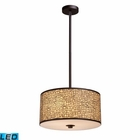 ELK Medina 3-Light Pendant in Aged Bronze - Led EK-31046-3-LED