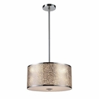 ELK Medina 3-Light Pendant in Polished Stainless Steel EK-31042-3