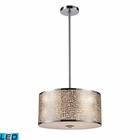 ELK Medina 3-Light Pendant in Polished Stainless Steel - Led EK-31042-3-LED