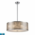 ELK Medina 5-Light Pendant in Polished Stainless Steel - Led EK-31043-5-LED
