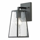 ELK Meditterano Collection 1 Light Outdoor Sconce in Textured Matte Black EK-45090-1