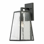 ELK Meditterano Collection 1 Light Outdoor Sconce in Textured Matte Black EK-45091-1
