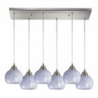 ELK Mela 6 Light Pendant in Satin Nickel EK-101-6RC-SW