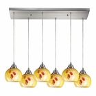 ELK Mela 6 Light Pendant in Satin Nickel EK-101-6RC-YW