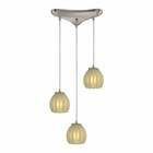 ELK Melony 3 Light Pendant in Satin Nickel EK-10421-3JD