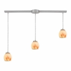 ELK Melony 3 Light Pendant in Satin Nickel EK-10421-3L-TS