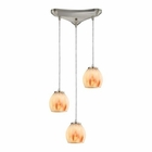 ELK Melony 3 Light Pendant in Satin Nickel EK-10421-3TS