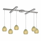 ELK Melony 6 Light Pendant in Satin Nickel EK-10421-6JD