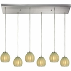 ELK Melony 6 Light Pendant in Satin Nickel EK-10421-6RC-JD