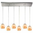 ELK Melony 6 Light Pendant in Satin Nickel EK-10421-6RC-TS