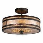 ELK Mica Filigree 2-Light Semi Flush in Tiffany Bronze EK-70065-2