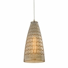 ELK Mickley 1 Light Pendant in Satin Nickel EK-10249-1