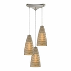ELK Mickley 3 Light Pendant in Satin Nickel EK-10249-3