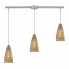 ELK Mickley 3 Light Pendant in Satin Nickel EK-10249-3L