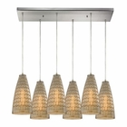 ELK Mickley 6 Light Pendant in Satin Nickel EK-10249-6RC