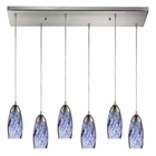 ELK Milan 6 Light Pendant in Satin Nickel EK-110-6RC-BL