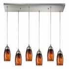 ELK Milan 6 Light Pendant in Satin Nickel EK-110-6RC-ES