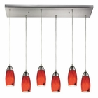 ELK Milan 6 Light Pendant in Satin Nickel EK-110-6RC-FR