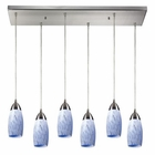 ELK Milan 6 Light Pendant in Satin Nickel EK-110-6RC-SW