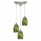 ELK Mini Vortex 3 Light Pendant in Satin Nickel EK-10089-3EVG