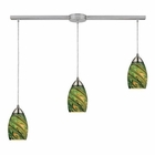 ELK Mini Vortex 3 Light Pendant in Satin Nickel EK-10089-3L-EVG