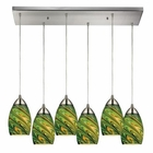 ELK Mini Vortex 6 Light Pendant in Satin Nickel EK-10089-6RC-EVG