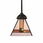 ELK Mix-N-Match 1-Light Pendant in Tiffany Bronze EK-078-TB-01