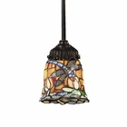 ELK Mix-N-Match 1-Light Pendant in Tiffany Bronze EK-078-TB-12