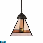 ELK Mix-N-Match 1-Light Pendant in Tiffany Bronze - Led EK-078-TB-01-LED