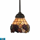 ELK Mix-N-Match 1-Light Pendant in Tiffany Bronze - Led EK-078-TB-07-LED