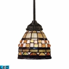ELK Mix-N-Match 1-Light Pendant in Tiffany Bronze - Led EK-078-TB-10-LED