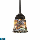 ELK Mix-N-Match 1-Light Pendant in Tiffany Bronze - Led EK-078-TB-12-LED