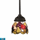ELK Mix-N-Match 1-Light Pendant in Tiffany Bronze - Led EK-078-TB-19-LED