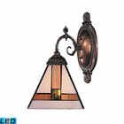 ELK Mix-N-Match 1-Light Sconce in Tiffany Bronze - Led EK-071-TB-01-LED