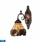 ELK Mix-N-Match 1-Light Sconce in Tiffany Bronze - Led EK-071-TB-07-LED
