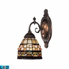 ELK Mix-N-Match 1-Light Sconce in Tiffany Bronze - Led EK-071-TB-10-LED