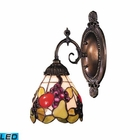 ELK Mix-N-Match 1-Light Sconce in Tiffany Bronze - Led EK-071-TB-19-LED