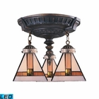 ELK Mix-N-Match 3-Light Semi Flush in Aged Walnut - Led EK-997-AW-01-LED