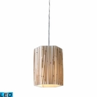 ELK Modern Organics-1-Light Pendant in Bamboo Stem Material in Polished Chrome - Led EK-19061-1-LED
